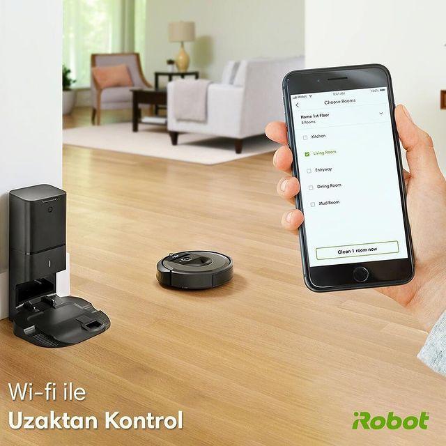 Roomba, temizlediği odanın büyüklüğüne ve boyutuna göre buna kendi başına karar verir. Siz sadece Wi-fi ile uzaktan kontrol edin, Roomba her detaya dikkat edecektir. 🤗💚  #Roombai7 #iRobot #RobotSüpürge