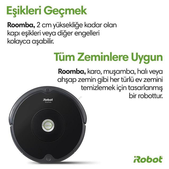 🔗 Roomba 606'nın başlıca özellikleri… 👀💚  #Roomba606 #iRobot #RobotSüpürge