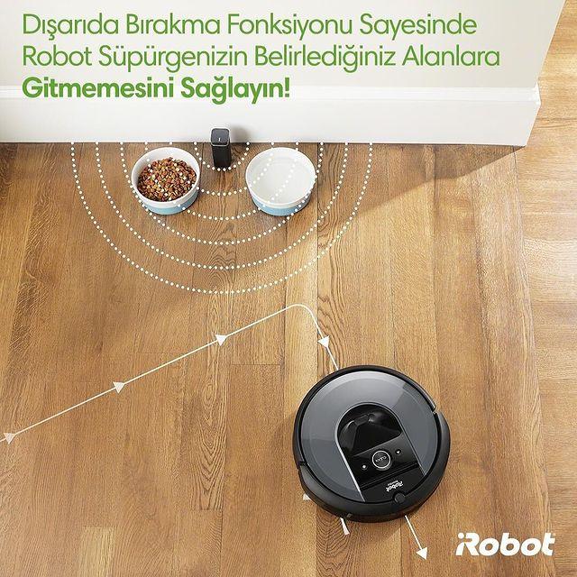 Roomba i7 ve i7+ modellerindeki dışarıda bırakma fonksiyonu sayesinde belirlediğiniz objeler temizlik sırasında güvende kalsın! 🤖💚💪🏻  #Roombai7 #Roombai7Plus #iRobot #RobotSüpürge