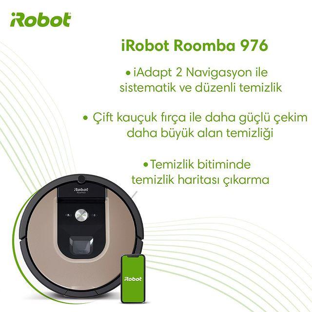 Verimli  bir robot süpürgeye sahip olmak için Roomba 976'yı daha yakından keşfedin.  #iRobot #Roomba976 #RobotSüpürge
