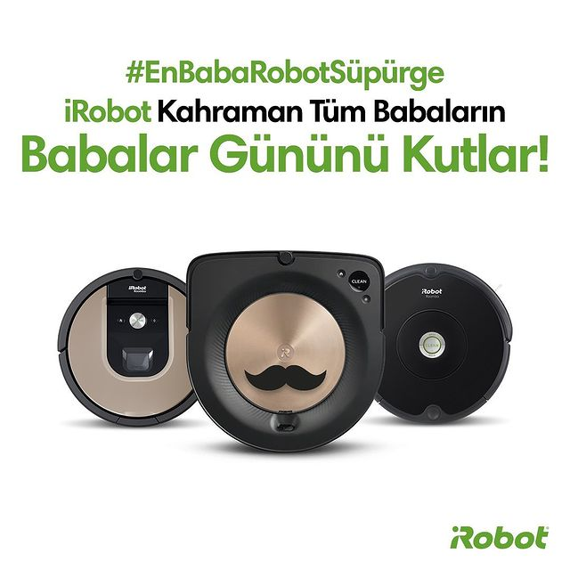 Evinizin temizlik kahramanı iRobot, tüm babaların Babalar Gününü kutlar. 🤖😎  #EnBabaRobotSüpürge