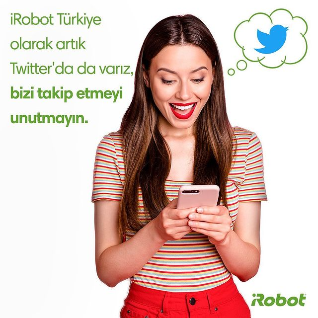 iRobot Türkiye olarak artık Twitter'da da varız. Bizi takip etmeyi unutmayın.💚 Sayfa linki profilde. 👆🏻😉  #iRobot #iRobotTurkiye #RobotSüpürge