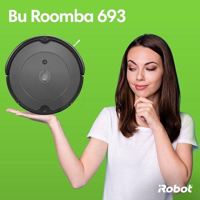 Bu Roomba 693, sadece iRobot'da bulunan çift fırçası ve köşe fırçası ile evinizi tertemiz yapan, hesaplı bir model. 💚  #iRobot #Roomba693 #RobotSüpürge