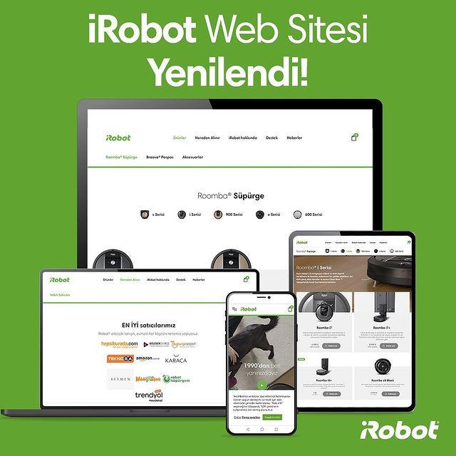 iRobot web sitesi yenilendi. Yenilenen web sitemizde roomba robot süpürgelerin özelliklerine göz atabilir, iRobot hakkında bilgi sahibi olabilirsiniz.👨🏻💻🤖 Link profilde. 👆🏻💚