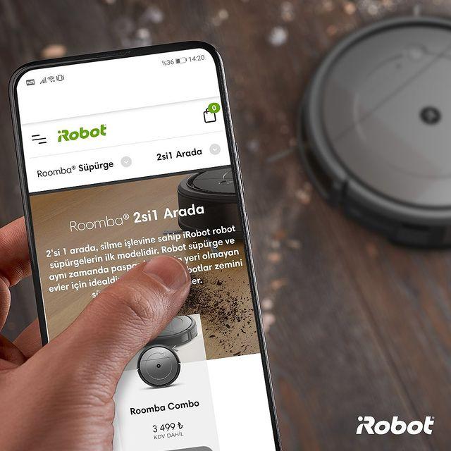 Hem süpürme hem silme yapan Roomba Combo'yu daha yakından keşfet! Link profilde. 👆🏻💚  #iRobot #RoombaCombo #iRobot #RobotSüpürge #2si1Arada