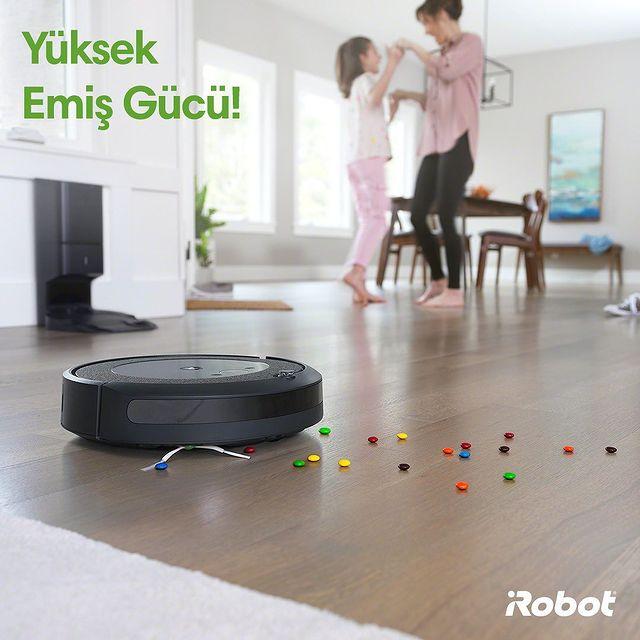Roomba i3+ yüksek emiş gücü ve akıllı sensörleriyle mobilyalara takılmadan evinizde kusursuz temizlik sağlar. 💚🤖  #Roombai3Plus #iRobot #RobotSüpürge