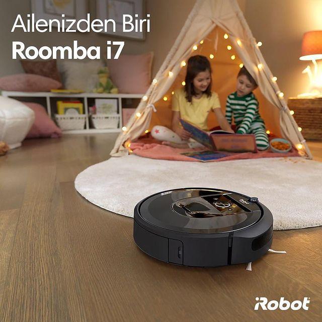Ailenizin bir parçası olan Roomba i7'nin akıllı navigasyon sistemi ile güçlü temizliğine güvenin! 🤖✅   #iRobot #Roombai7 #Roombai7Plus