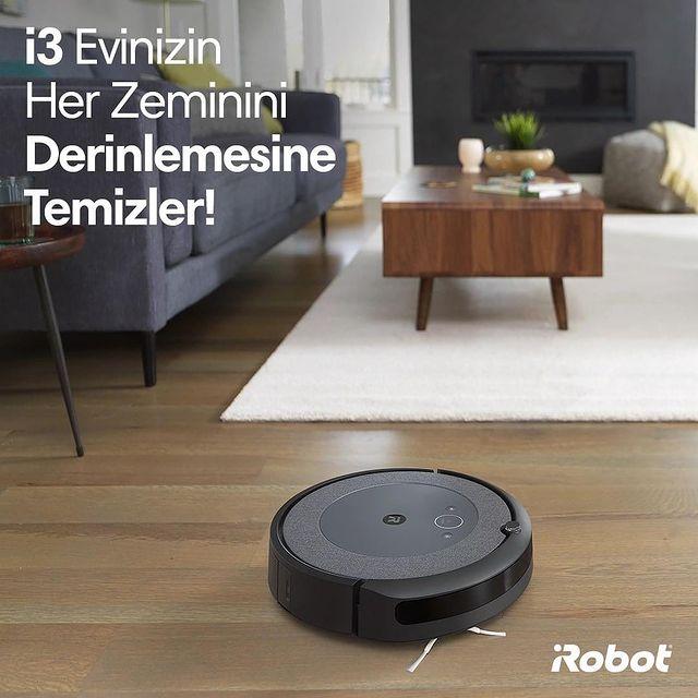 Roomba i3, iRobot patentli AeroForce 3 aşamalı temizleme sistemi ile evinizin her zeminini derinlemesine temizler.🤖😎💚  #Roombai3 #Roombai3Plus #iRobot #RobotSüpürge