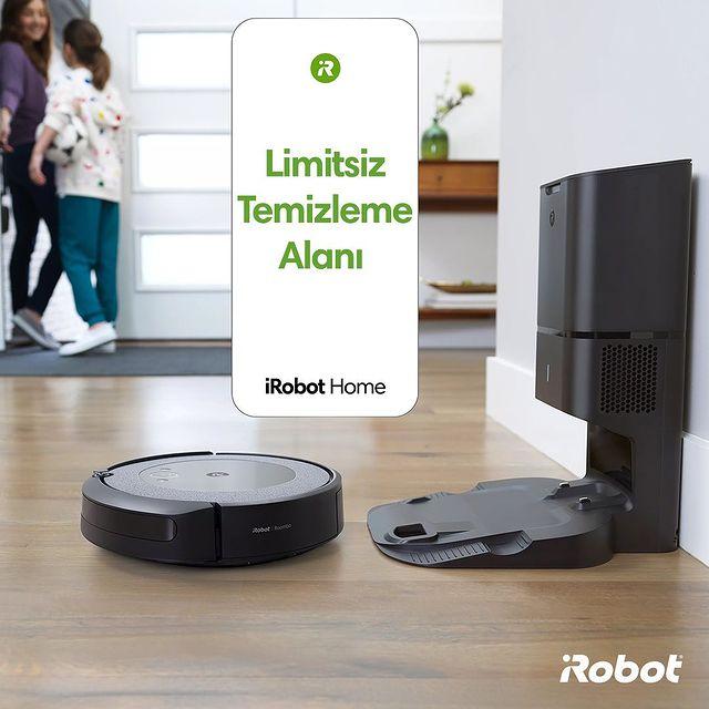 Roomba i3+ akıllı robot süpürge şarjı azaldığında ünitesine döner, kendini şarj ettikten sonra temizliğe kaldığı yerden devam eder.  #iRobot #Roombai3 #Roombai3Plus #RobotSüpürge