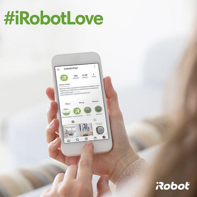 #iRobotLove etiketiyle Roomba deneyiminizi bizimle paylaşın. Sayfamızda yayınlayalım. 🤖💚  #iRobot #Roomba #RobotSüpürge